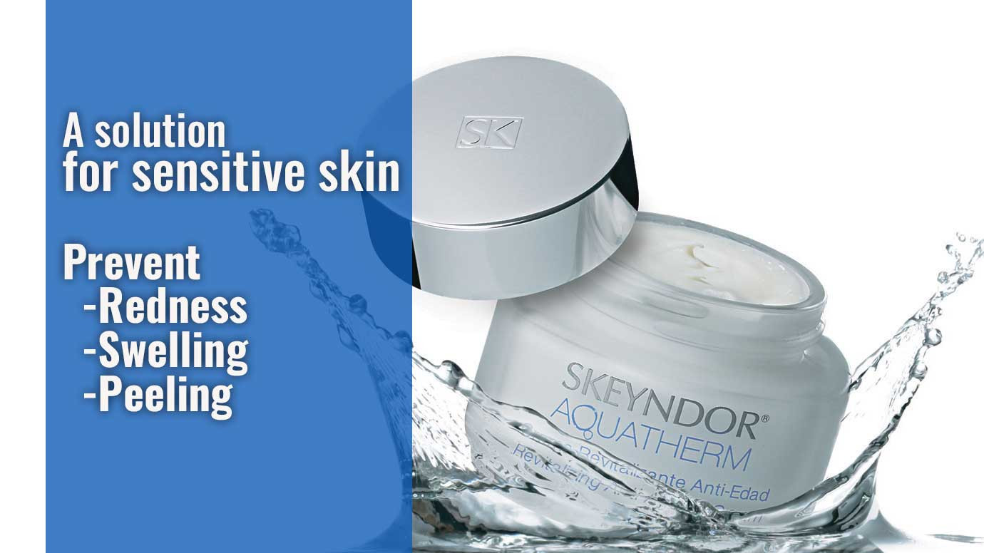 A solution for sensitive skin that seeks to stabilise and rebalance epidermal metabolism, restore protection against the damaging effects